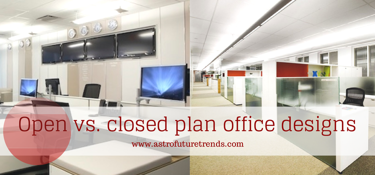 Open vs. closed plan office designs